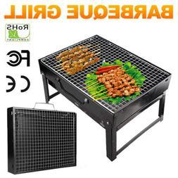 Folding BBQ Grill Portable Camping Smoker Barbecue Picnic Co
