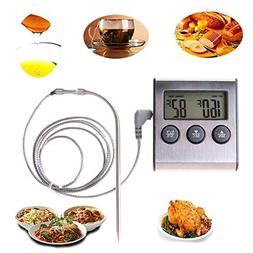 Digital Food Thermometer - Lcd Digital Cooking Food Meat The