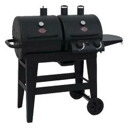 Gas and Charcoal Combo Grill BBQ Dual 2 Burner Outdoor Cooki