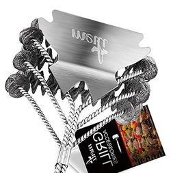 MEILI Grill Brush & Scraper Tool,Best BBQ Brush for Grill  E
