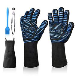 GEEKHOM Grill Gloves 1472℉ Heat Resistant BBQ Grilling Glo