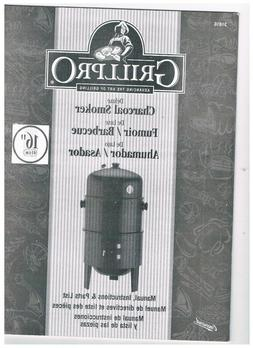 "Grill Pro 16"" Deluxe Charcoal Smoker and Grill 31816 NIB *8"