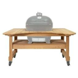 Primo Grill,XL Oval Ceramic Grill with Cypress Table 5 piece