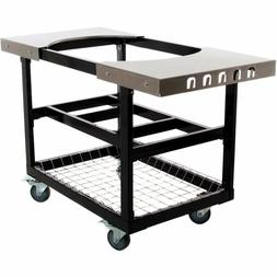 Primo Grills & Smokers 320-Cart with Stainless Steel Side Ta
