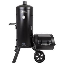 Heavy-Gauge Steel Body Outdoor Vertical Charcoal Grill and O