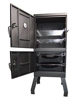 Household Vertical Offset Charcoal Smoker Wood Chips BBQ Gri