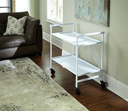 Cosco Indoor/Outdoor Folding Serving Cart White