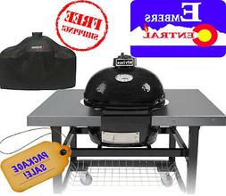 Primo JR200 BBQ Lump Coal Bake Smoke Grill W/ Accessories &