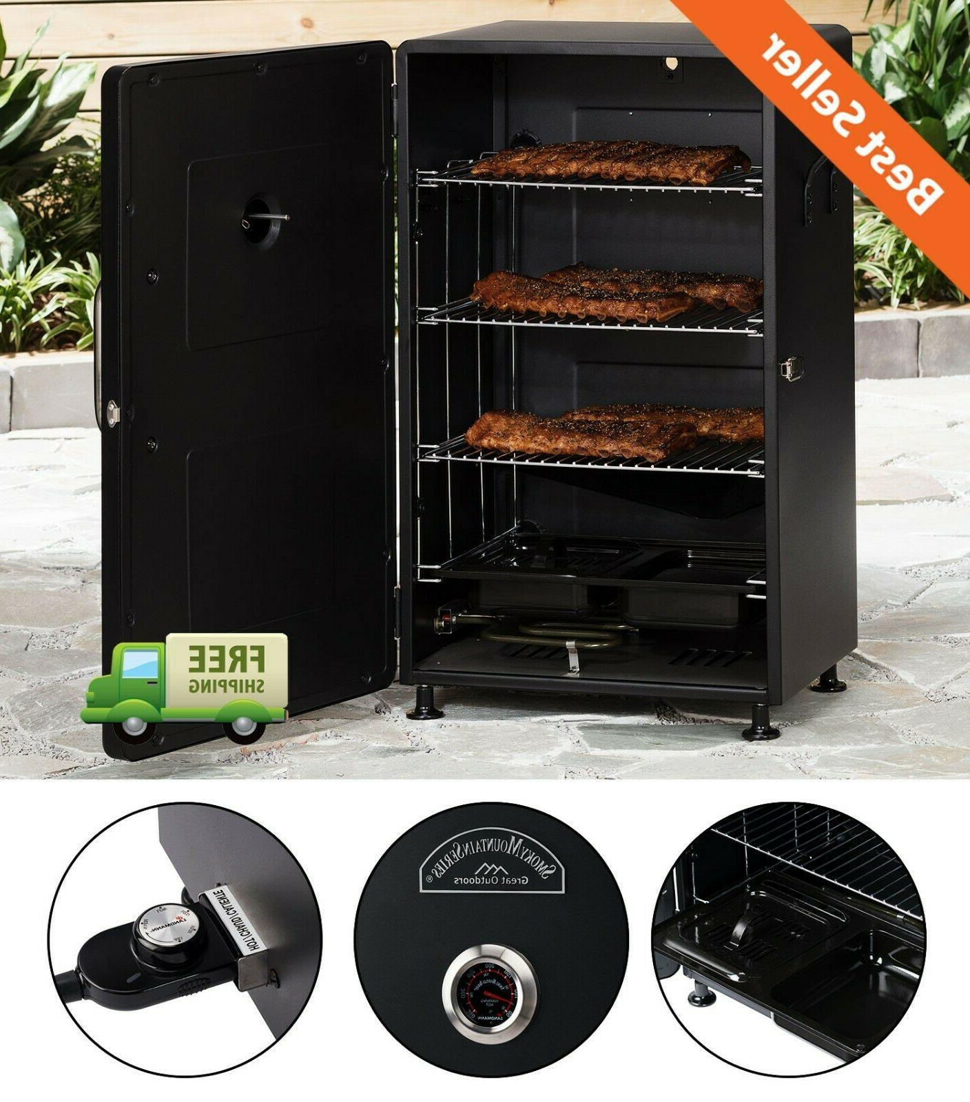 adjustable 26 electric smoker outdoor barbecue meat