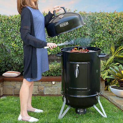 """18"""" inch Portable Round Charcoal Smoker Vertical BBQ Grill B"""