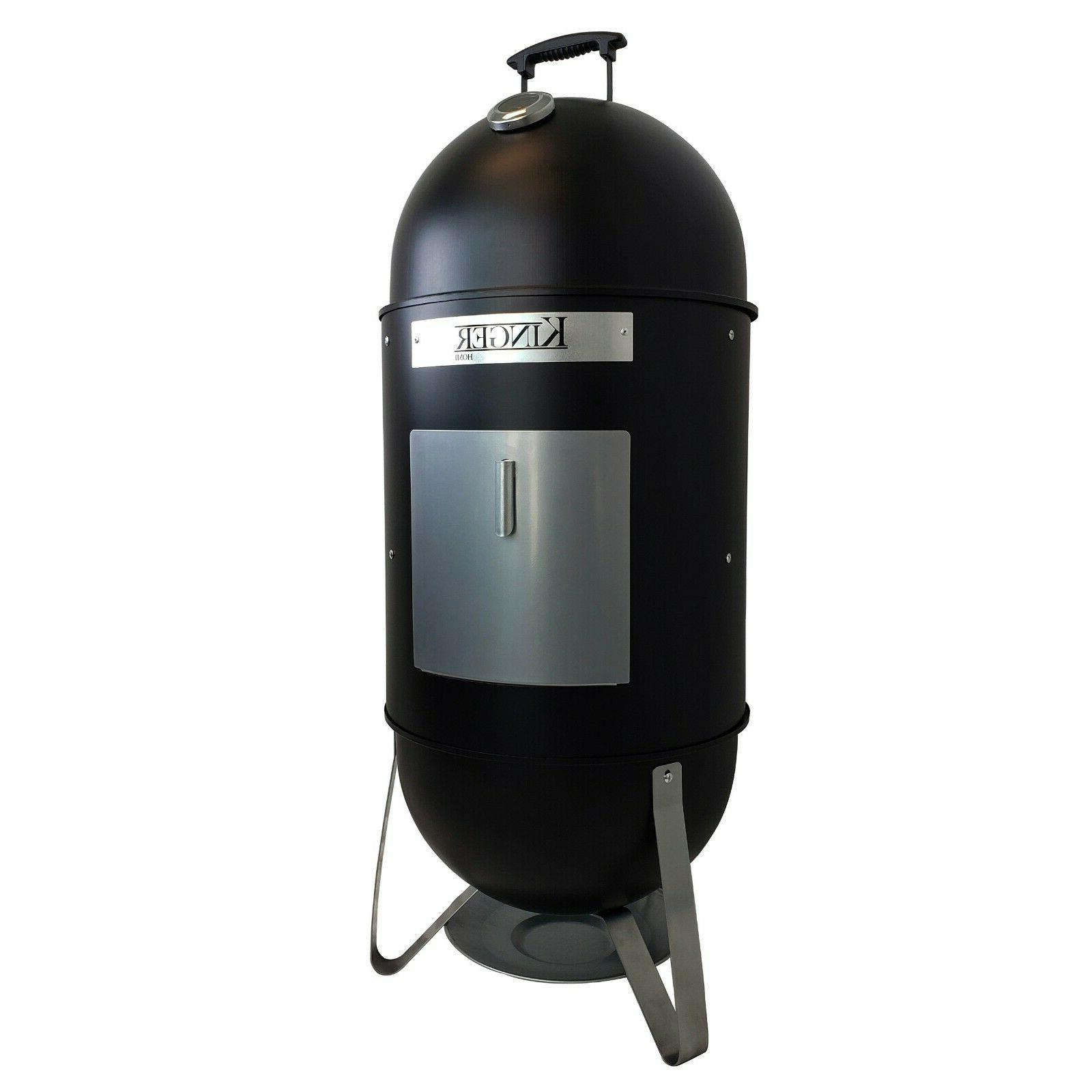 18 inch vertical bbq smoker wood charcoal