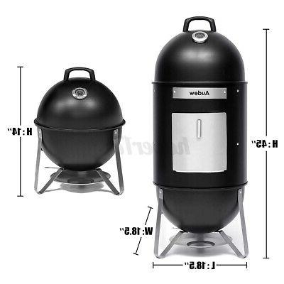 18In 2 in Charcoal Vertical BBQ Roaster Cooker US