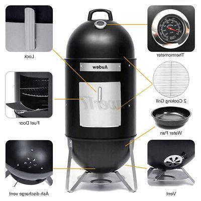 18In 2 in 1 Charcoal Smoker BBQ Barbecue Cooker