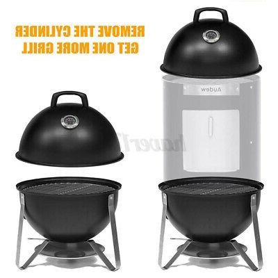 18In in Charcoal Smoker Grill BBQ Steel Barbecue Cooker