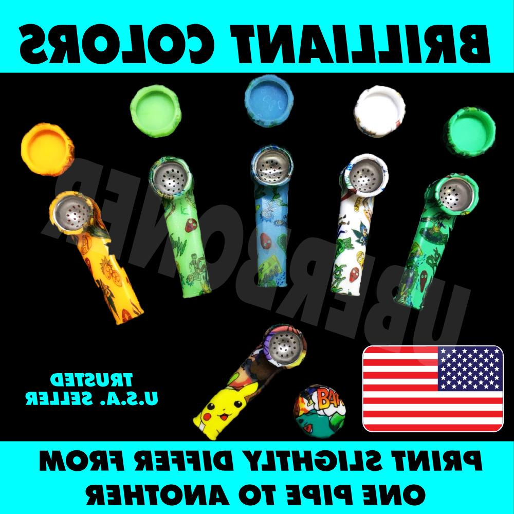 2 SILICONE TOBACCO HAND METAL