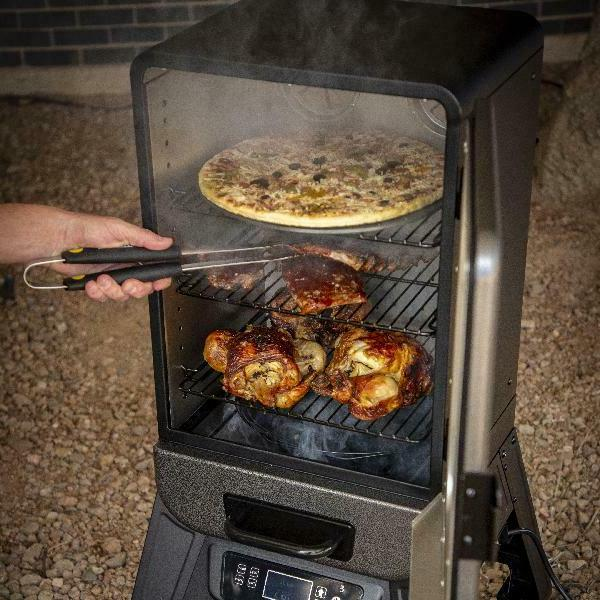 3 rack digital electric vertical smoker outdoor