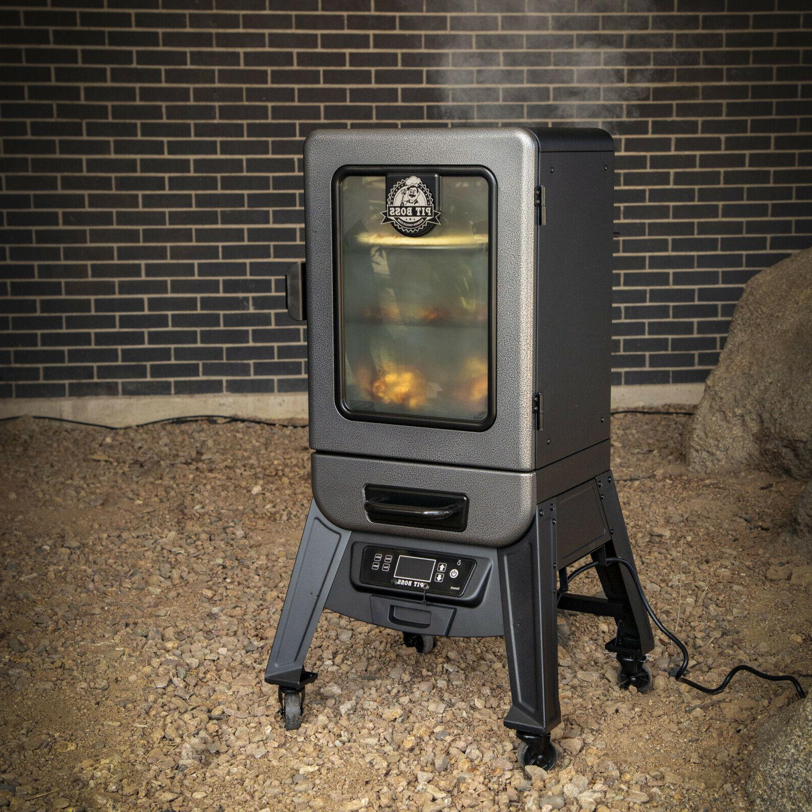 3 Rack Vertical Smoker Outdoor Meat Grill Smoke Roast