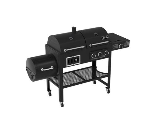 Smoke Hollow 3500 4-in-1 Combination 3-Burner Gas Grill with