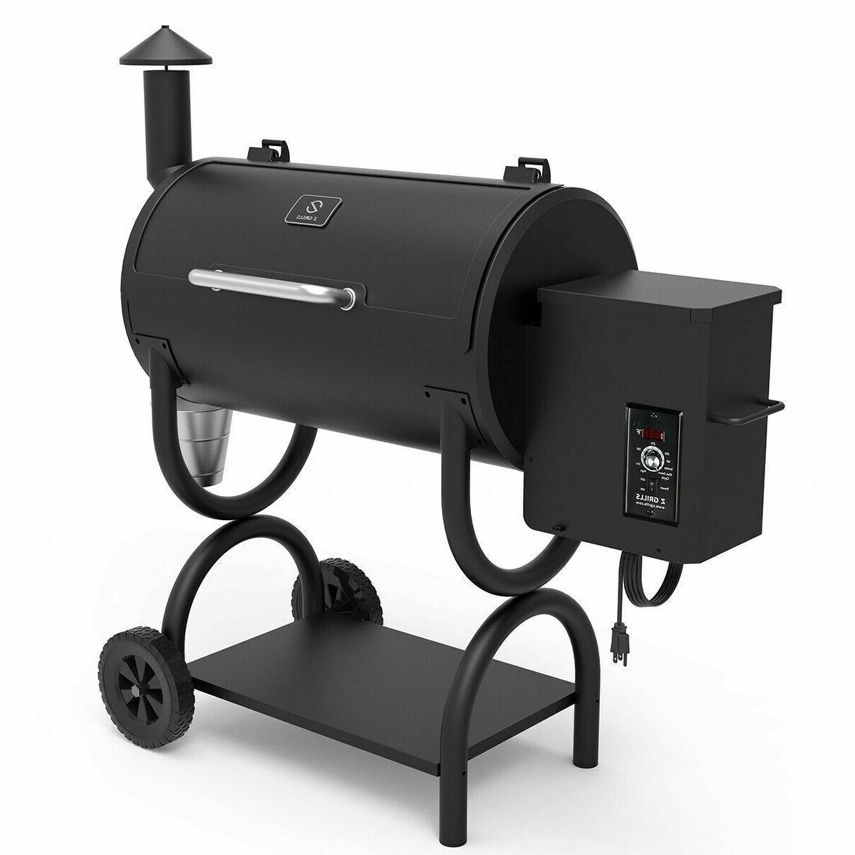 Z Grills ZPG-550B Wood Pellet Grill & Smoker 7 in 1- Electri