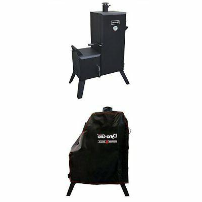 Dyna-Glo DGO1176BDC-D Vertical Offset Charcoal Smoker and Pr