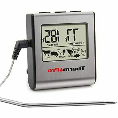 Cooking ThermoPro TP16 Grilling Barbecue Oven Meat Thermometer with Steel in