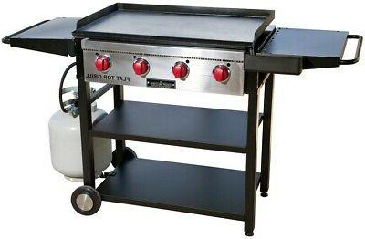 Camp Chef Flat Top Grill Cart Style Folding Shelf Propane Ga