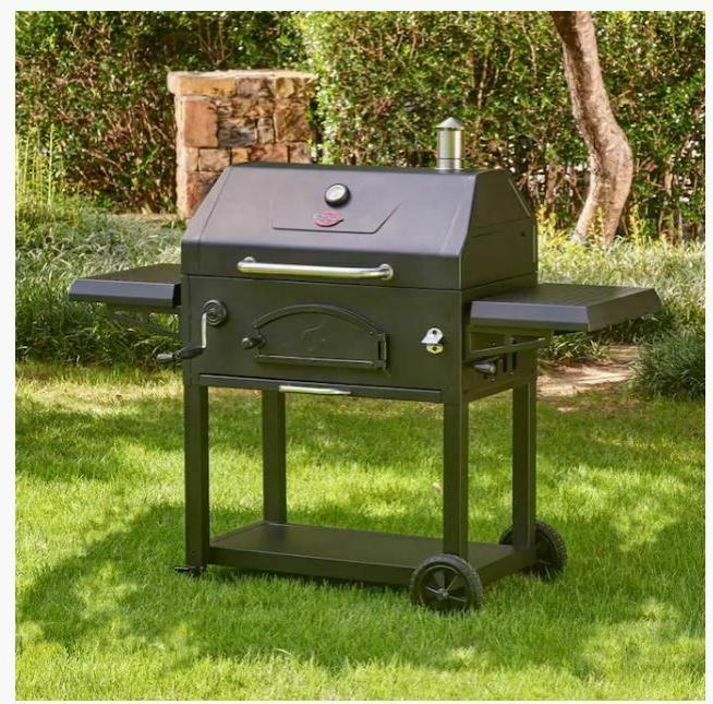 Char-Griller Legacy 33-in Black Charcoal Grill cooking