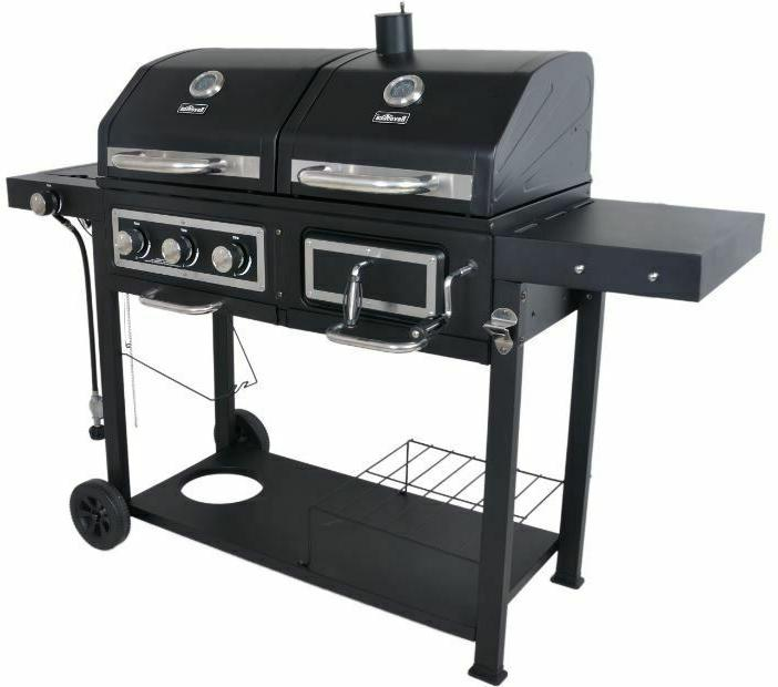 Charcoal Gas Grill Dual Fuel Combination BBQ Outdoor