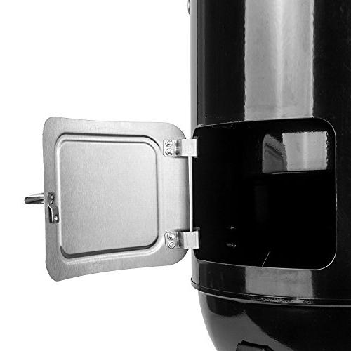 Smoker with Cover, Black