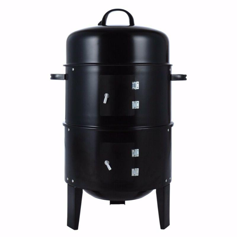 3 in 1 Vertical Smoker Roaster Steel Barbecue Outdoor