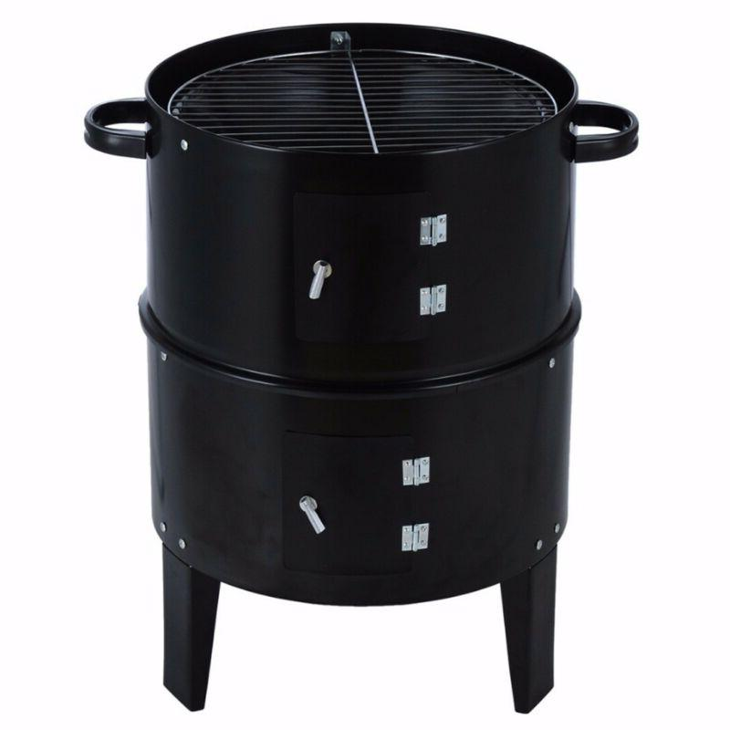 3 Charcoal Roaster Steel Water BBQ