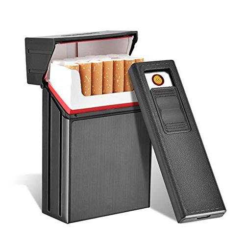 cigarette case with lighter 2 in 1