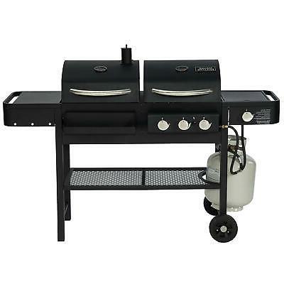 Smoke Combination and Charcoal Fuel Smoker BBQ