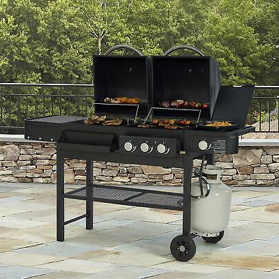 combination gas and charcoal grill dual fuel