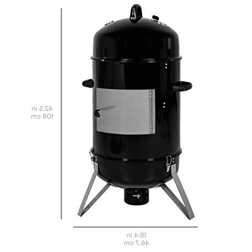 Best Choice 3-Piece Vertical Design Smoker Black