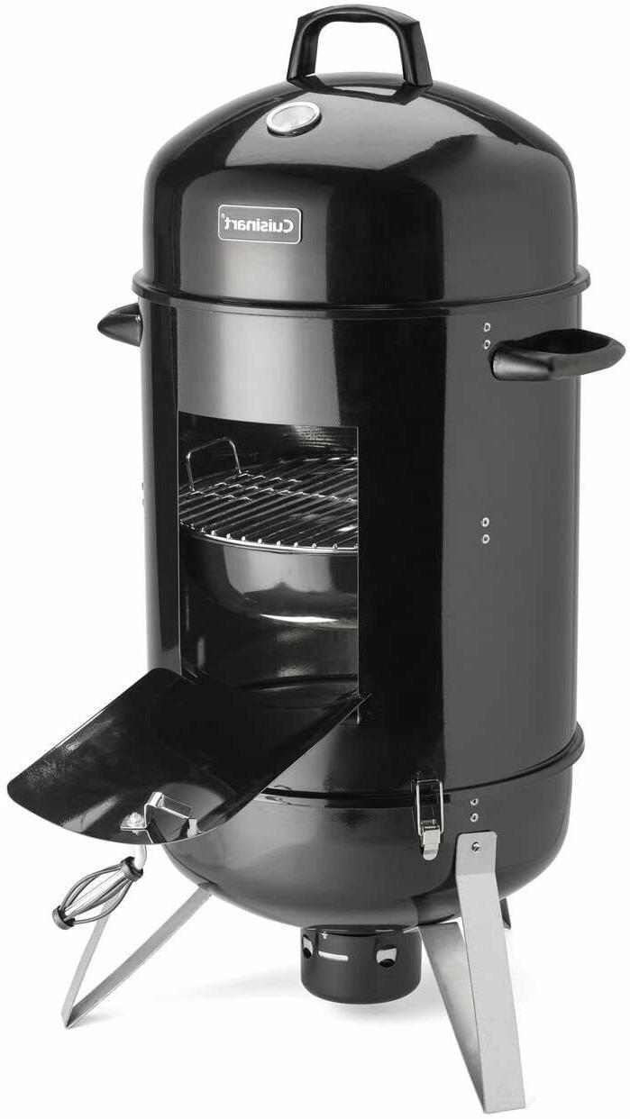 "18"" Charcoal Smoker Cuisinart Durable BBQ Grill Vertical Ver"