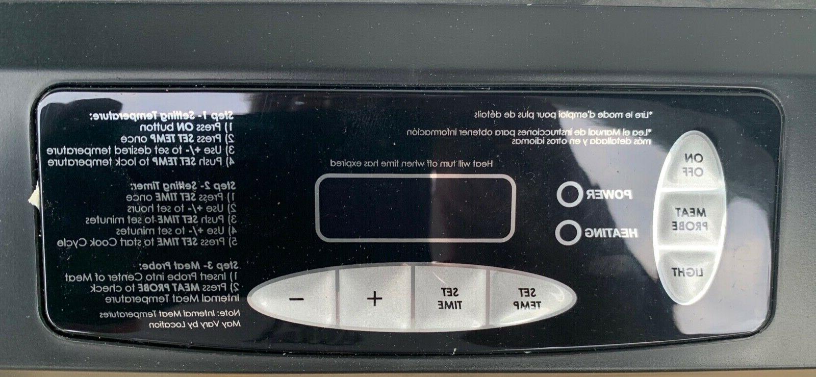 digital smoker control pn 9007140013