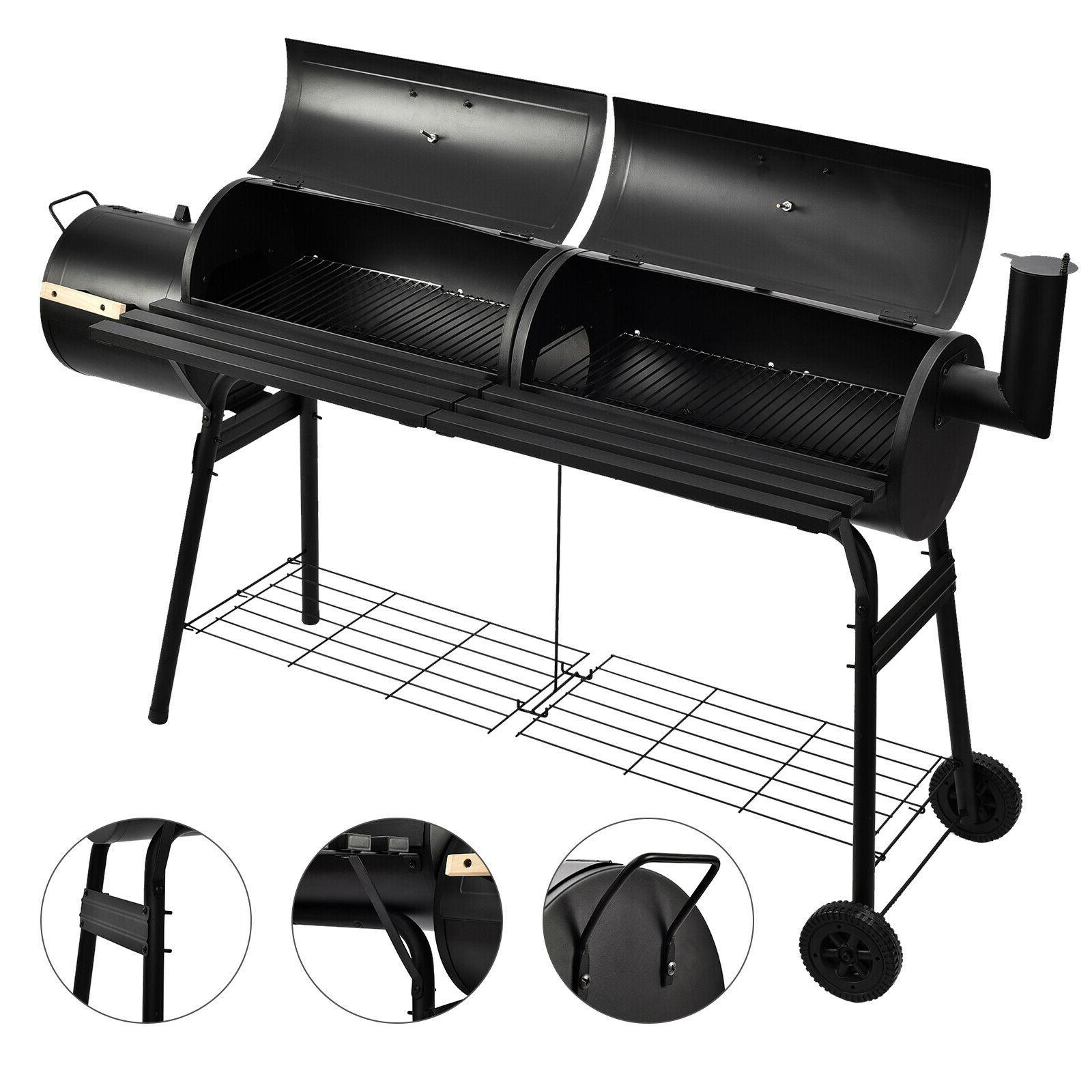 "68"" BBQ Charcoal Barbecue Pit Backyard Meat Cooker Smoker"