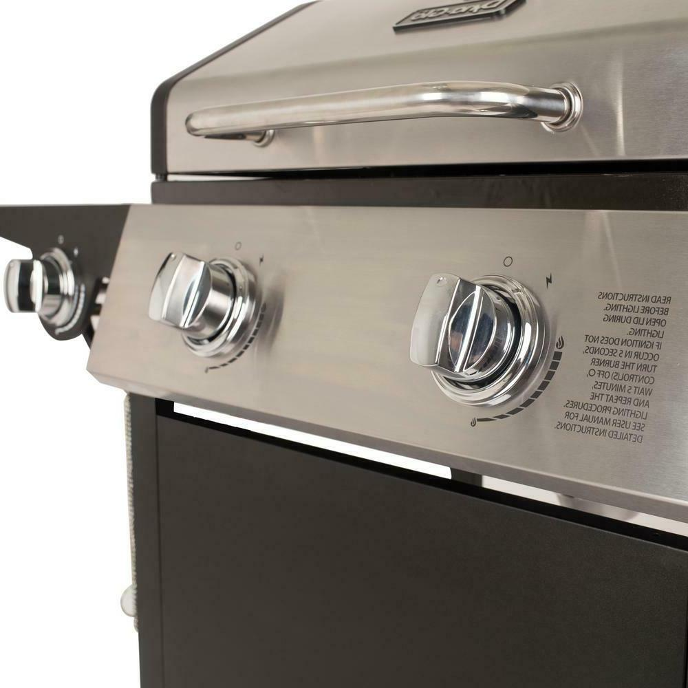 Dyna-Glo Gas Grill in Stainless Steel Black Burner