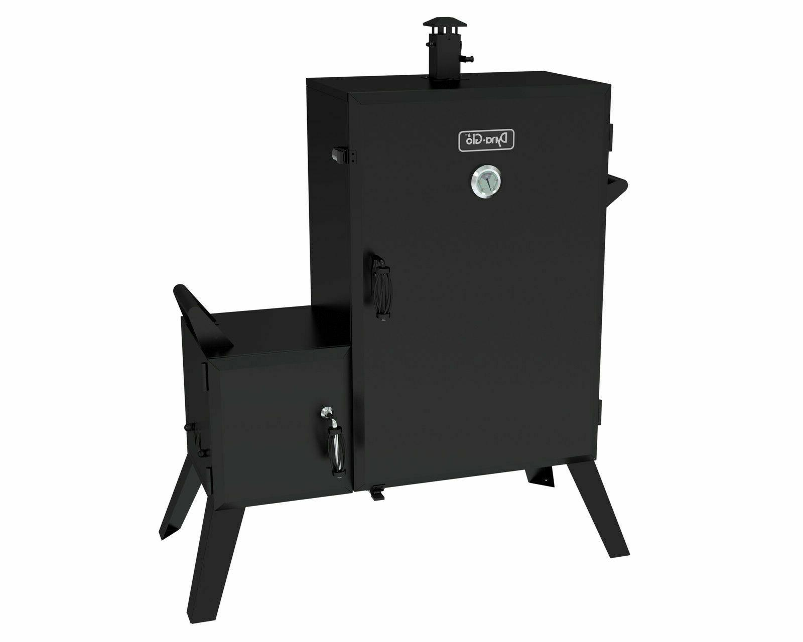 Dyna-Glo 36 in. Vertical Charcoal Smoker Grill Offset Wide B