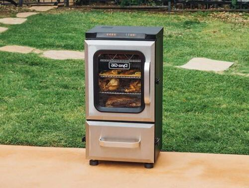 DYNA-GLO 40 in. Digital Electric Smoker with 2 Door and Blue