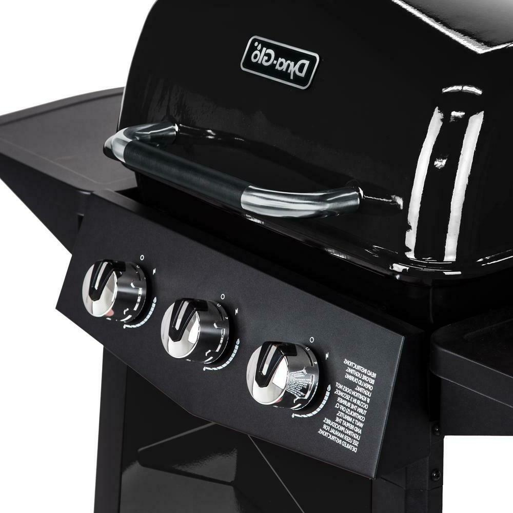 Dyna-Glo Propane Grill 3-Stainless Cart in Black