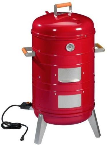 Electric Vertical Charcoal Wood Water Smoker Grill Portable