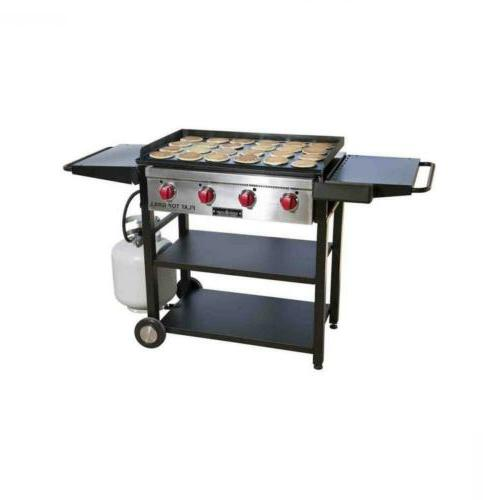 flat top bbq grill outdoor patio lawn