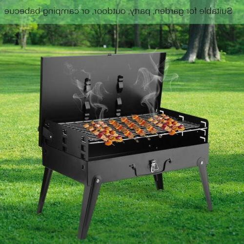 Foldable Compact Charcoal Grill Outdoor Cooker