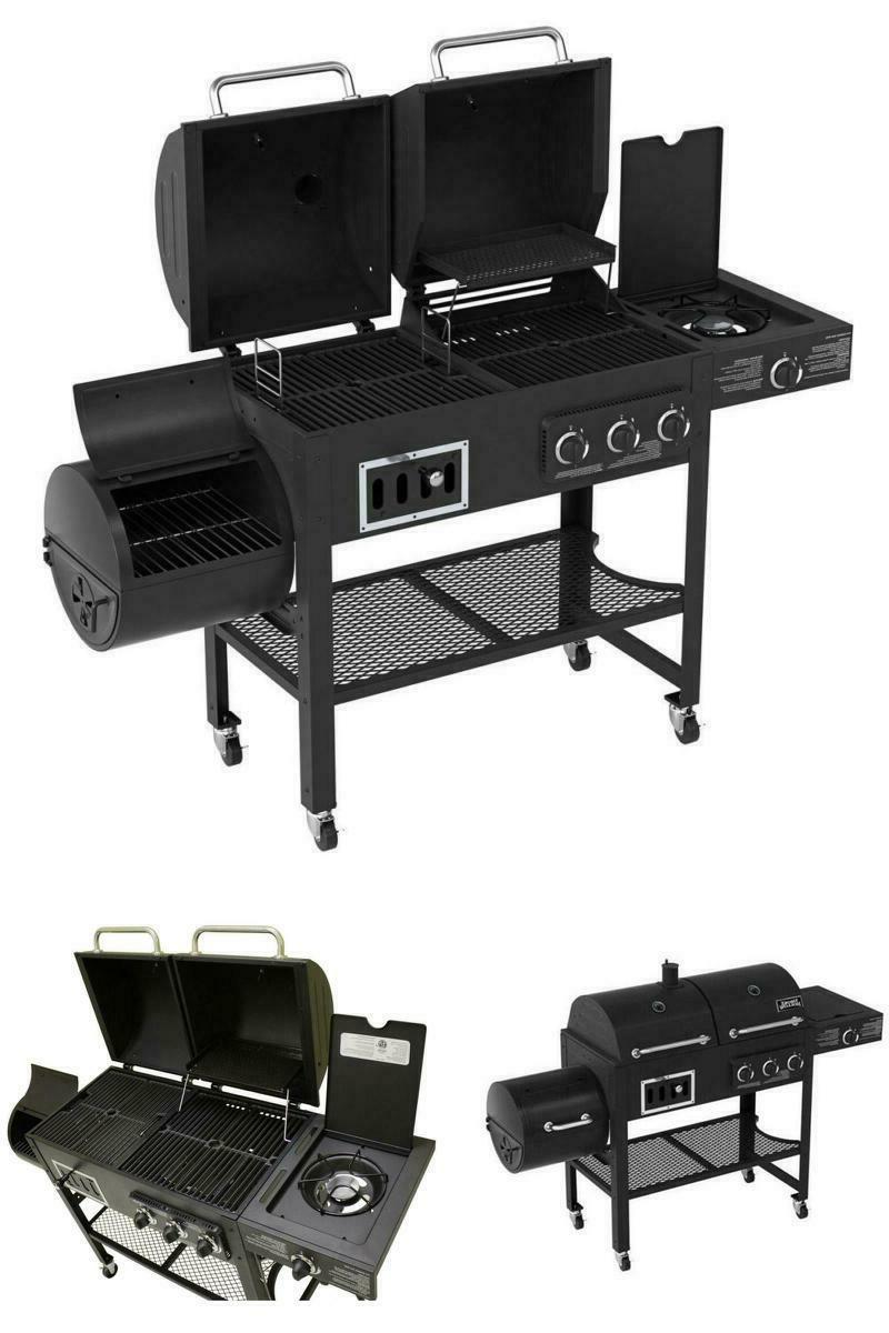 gas charcoal grill combo outdoor bbq smoker