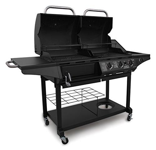 Char-Broil Combination Charcoal & Gas 463714514 3 Elements -