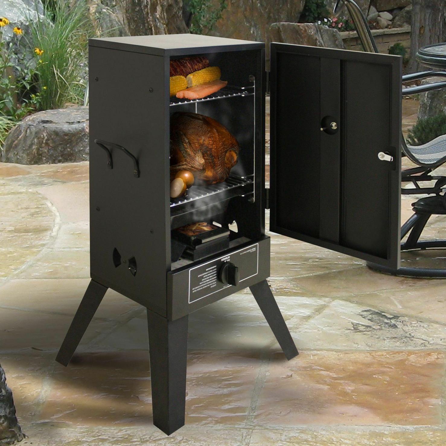 Gas Grill Propane Vertical BBQ Wood Burner Smoke