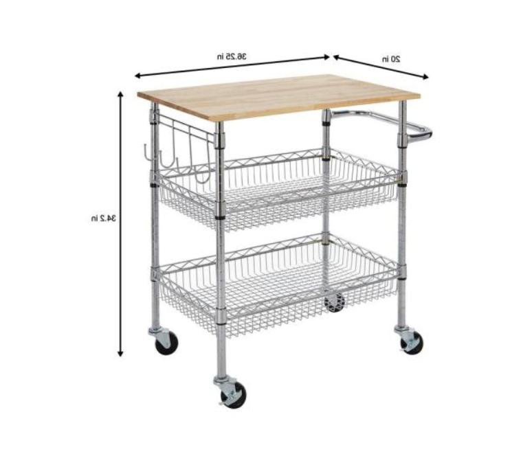 Gatefield Chrome Cart with Wood