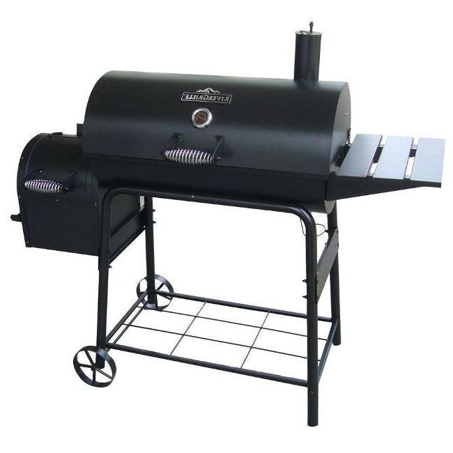 large charcoal grill smoker outdoor portable barbecue